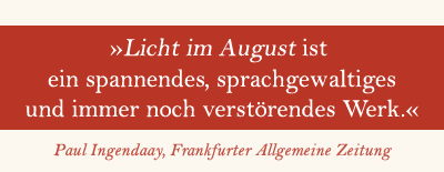 William Faulkner Licht im August Special
